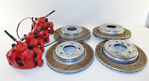 Power Stop Brake Caliper Drilled Rotor Set 4 Bmw E46 325xi 2000 2005