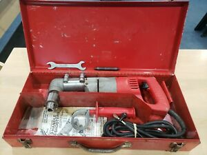 Milwaukee 1101 1 Heavy Duty 1 2 Right Angle Drill W handle In Case pre owned