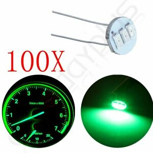 100pcs Green 3smd Led Bulbs Instrument Gauge Cluster Backlight Light For Gm 12v