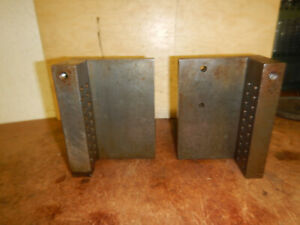 2 Machinist Angle Plates With Side Stops Jig Fixture Milling Tooling