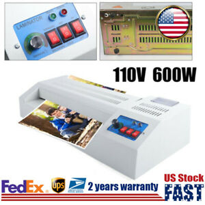 330mm Thermal Laminator Machine Hot cold Laminating Equipment 4 Roller A3 Us