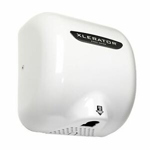 Xlerator Xl w Automatic High Speed Hand Dryer With White Cover And 1 1 Noise Red