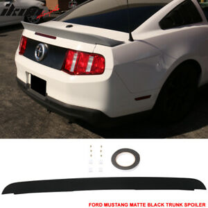 Fits 10 14 Mustang Cobra Gt500 Style Matte Black Trunk Spoiler Duck Tail Abs