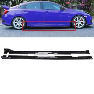 Fit 2016 2019 Honda Civic 4dr Sedan Fk8 Type R Style Black Side Skirt Extension