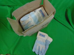 New Mcr 1700xl Big Jake Leather Palm Gloves Safety Work Set X Large Lot Of 12