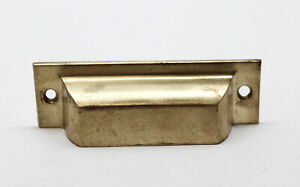Antique Classic 4 In Brass Bin Drawer Pull