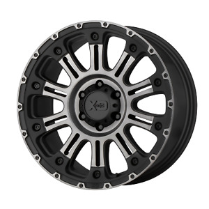 For 1 xd Hoss Ii Satin Black Machined Gray Tint 18x9 Chevy Toyota 6x5 5 0