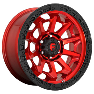 Fuel 1pc Covert Candy Red Black Bead Ring 20x10 Chevy gm Hd Rims 8x180 18 Ea