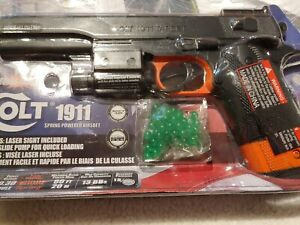 Colt 1911 Spring Powered Airsoft with laser $24.99