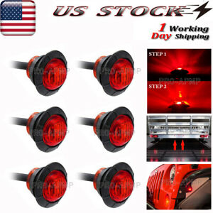 6x 3 4 spare Auxiliary Stop Turn Tail Light Led Truck Trailer Marker Brake Light
