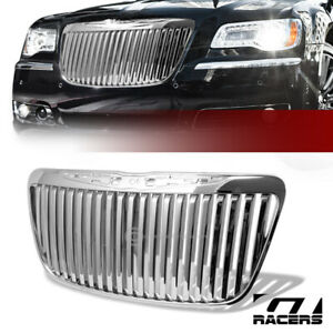 For 2011 2014 Chrysler 300 300c Chrome Vertical Front Hood Bumper Grill Grille