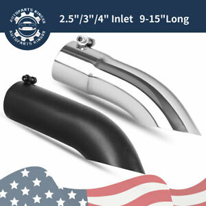 Stainless Steel Turn Down Exhaust Tip 2 5 3 4 Inlet outlet Angle Cut Tailpipe