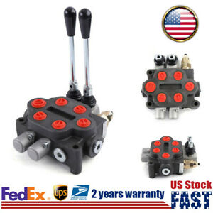 Double Acting Hydraulic Monoblock Directional Control Valve For Loader Tank Us