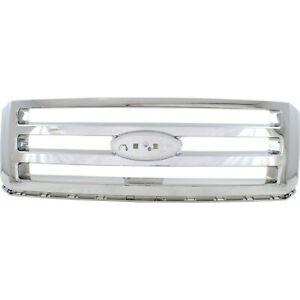 Grille For 2007 2014 Ford Expedition Chrome Plastic