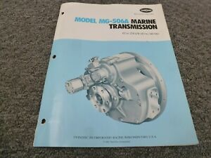 Twin Disc Mg 506a Marine Transmission Assembly Dimensional Specifications Manual
