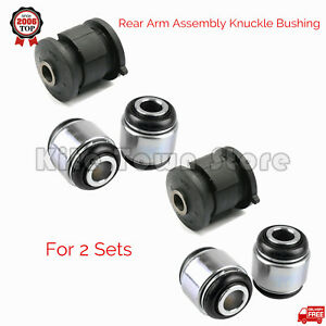 2 Sets Rear Arm Assembly Knuckle Bushing For Toyota Highlander Camry Lexus Rx