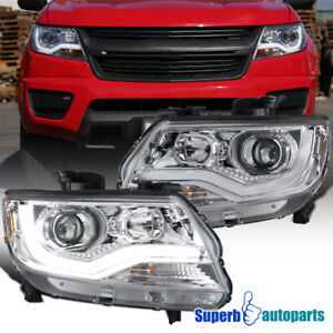 For 2015 2020 Chevy Colorado Led Drl Projector Headlights Signal Side Marker