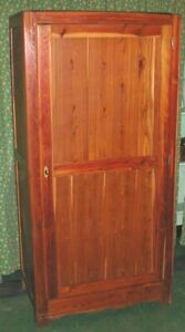 Antique 67 5 Tall Cedar Bedroom Wardrobe Armoire Storage Closet Pickup Only