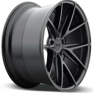 20x10 Niche Misano M117 5x112 40 Matte Black Wheels New Set