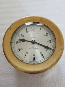 Bell Clock Co Ships Bell Strike Brass Clock Working Ce1