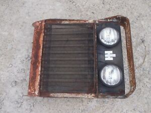 International 154 Low Boy Lb Tractor Ih Front Nose Cone Grill Assembly W Lights