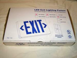 Led Emergency Exit Sign Light With Battery Backup Brand New