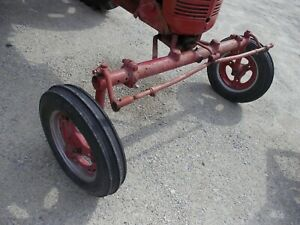 Farmall Ih C Super C Tractor Wide Frontend Widefront W Front Tires Rims