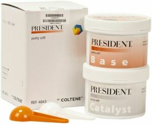 Coltene Whaledent President Putty Soft Base And Catalyst Kit Ref 4843 Fast Ship