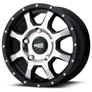 4 Moto Metal Mo970 16x7 5x130 42mm Black Machined Wheels Rims 16 Inch
