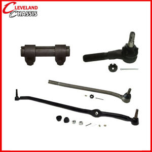 4 Pc Steering Kit Ford F100 F150 F250 73 79 Rwd Center Link Tie Rod Ends Sleeve