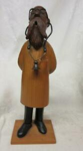 Italian Carved Wood Professor Style Doctor With Stethoscope By Romer 12 1 2