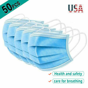 50x 3 Layers Face Mask Protective Proof Mouth Mask Protection Mask Wholesale Lot