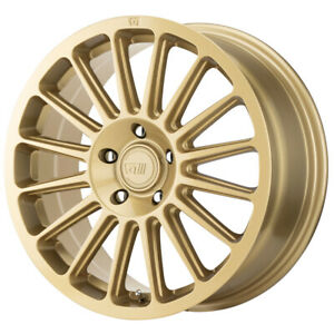4 motegi Mr141 17x7 5 5x100 40mm Gold Wheels Rims 17 Inch