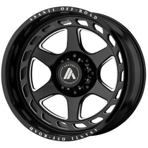 Asanti Off Road Ab816 Anvil 22x10 8x6 5 18mm Black Milled Wheel Rim 22 Inch