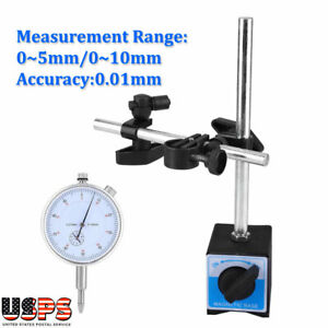 Dial Test Indicator Gauge Scale Precision 0 5 10 Mm W magnetic Magnetic Base