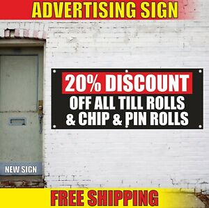 Till Rolls Banner Advertising Vinyl Sign Flag Chip Pin Discount Sales Delivery