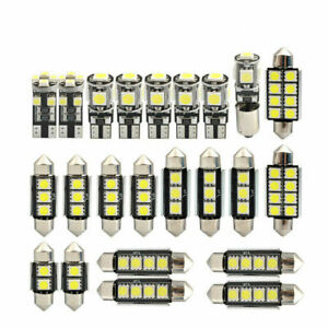23pcs Car Led Interior Light Chip Bulb Lamp Auto Dome White Kit Map Set Bright