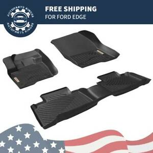 Floor Mats Rubber All Weather Protection For 2015 2020 Ford Edge Full Set Liners
