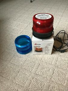 North American Signal Pipe Mounted Strobe Light red Blue 110 Volt St500p acr