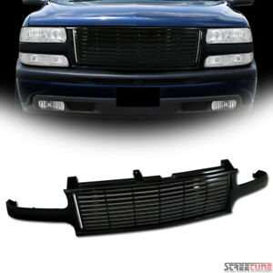 Black Horizontal Billet Bumper Grille Guard For 99 Silverado 00 Tahoe Suburban