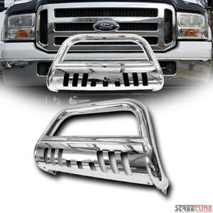 Stainless Chrome Bull Bar Push Bumper Grille Guard For 05 07 Ford F250 F350 Sd