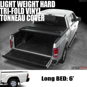 For 16 20 Toyota Tacoma 6 72 Long Truck Bed Tri Fold Hard Vinyl Tonneau Cover