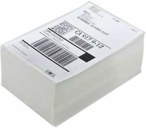 4000 4x6 Fanfold Direct Thermal Shipping Labels For Zebra And Rollo Printers Usa