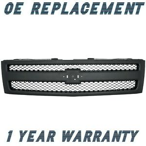 Chevrolet Silverado 1500 2007 2013 Grille Textured Black Chevy 22829433
