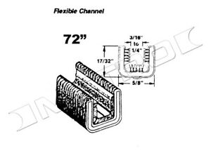 Flexible Glass Run Channel Fits 1933 1963 Chevrolet Truck And Many More