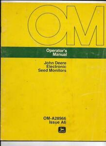 John Deere Electronic Seed Monitors Operator s Manual Om a28966 Issue A6