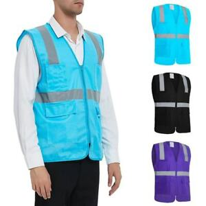 Gogo Safety Vest High Visibility Reflective Tape With Multi Pockets Pen Dividers