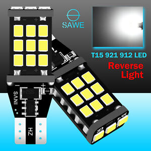 2x Sawe 2100lm T15 921 912 21smd Led Back Up Reverse Light Bulb White For Lexus