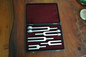 Vintage Professional Tuning Fork Set By Holco Germany C 2048 1024 512 256 128