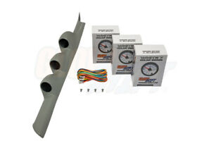Glowshift Gray Triple Pillar Pod 3 White 7 Color Gauges For 02 06 Acura Rsx